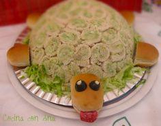Tortuga rellena, perfecta para una fiesta infantil