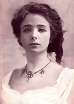 Maude Adams 1892 portrait - Broadway actress (the character of Elise McKenna in the movie Somewhere in Time was based on Maude's life)