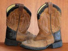Toddler Boy's Tony Lama Leather #Western Riding #CowboyGear #BootsOn  #teamsellit