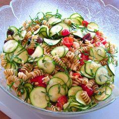 pasta salad recipes, zucchini, pastasalad, low calories, low calorie recipes