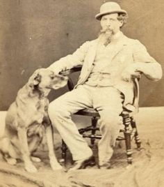 Charles Dickens with his dog