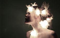 Fairy lights hairpiece lights, neat thing, light hairpiec, fairies, photo inspir, twinklepretti light, headpieces, fairi light, light headpiec