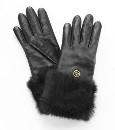 Fur Button Glove | Womens Hats, Scarves & Gloves | ToryBurch.com