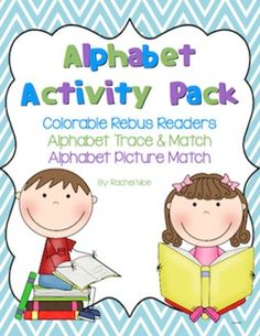 Fun alphabet activity pack! Perfect for the first days of kindergarten when students are still developing phonemic awareness. This would also be a fun pack for students who will be in kindergarten next year to do over the summer at home! $