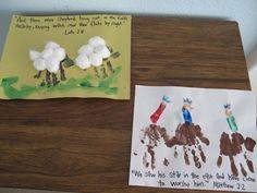 Nativity Handprint pictures