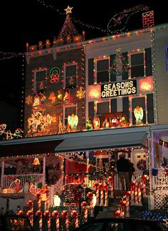 #Christmas decorations on 34th Street, Hampden, Baltimore MD