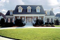 House Plan 85454   Colonial Farmhouse Plan with 3338 Sq. Ft., 4 Bedrooms, 4 Bathrooms, 2 Car Garage at family home plans
