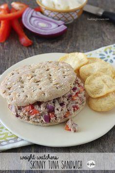 Weight Watchers Skinny Tuna Sandwich