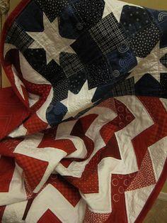 American Flag Chevron Quilt...