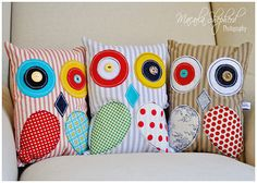 Owl pillows, too easy to make!