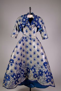 Ball gown and shrug, Marguery Bolhagen, 1959. From the collections of the Metropolitan Museum of Art.