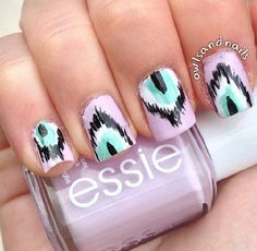 Lavender nails ...