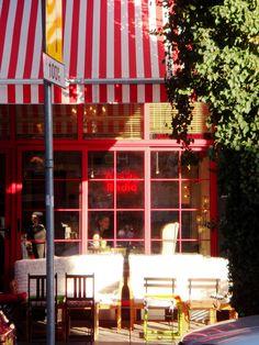 terrasse of Panda Cafe, Thessaloniki, Greece