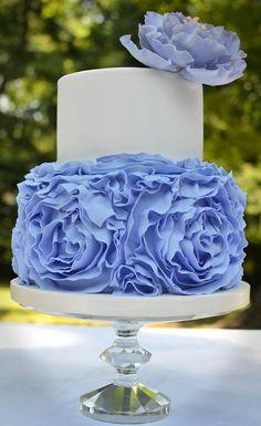 Beautiful Large Ruffled Two-Tiered Cake