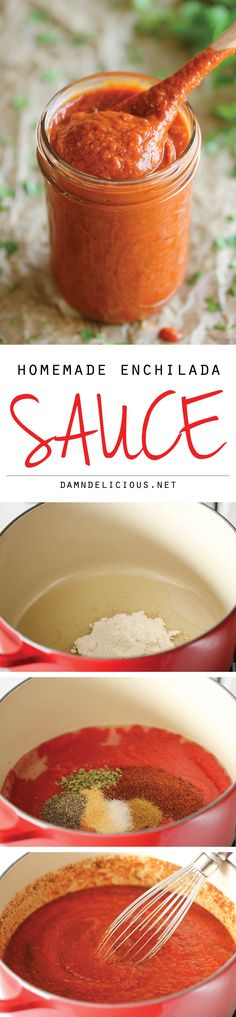 Homemade Enchilada Sauce - You'll never want store-bought enchilada sauce after making this super easy, no-fuss homemade version!