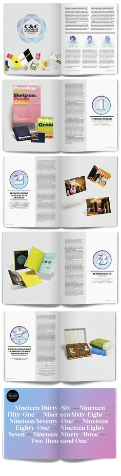 "print magazine feature ""Creativity & Commerce""   design by Jessica Walsch"