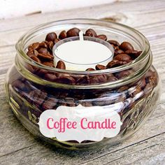 How to make a coffee-scented candle (and more easy how-tos!) #crafts #diy