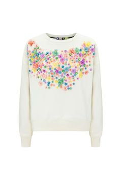 Must-haves - MSGM floral sweatshirt - monstylepin #fashion #style #musthave #floraltrend #sweatshirt #embellished #designerfashion #MSGM