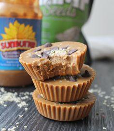 These look amazing...Sunbutter Cups with Dark Chocolate & Hemp Seeds – Vegan & Gluten Free