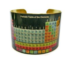 Periodic Table brass cuff bracelet $30.00