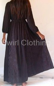 Gothic Black Peasant Dress Jacquard Insets 20 22 24 26. buying this come payday!!! £49