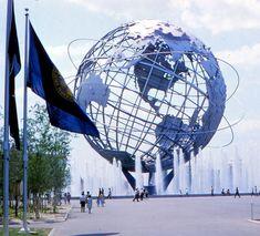"A photo of the1964 World's Fair Unisphere. Credit: Gary W. Clark. Read more on the GenealogyBank blog: ""1964 World's Fair: History, Photos & Memorabilia."" http://blog.genealogybank.com/1964-worlds-fair-history-photos-memorabilia.html"