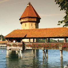The iconic Chapel Bridge in Lucerne is the oldest wooden bridge in Europe