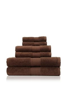 Terrisol 6-Piece MicroCotton Bath Towel Set (Chocolate)