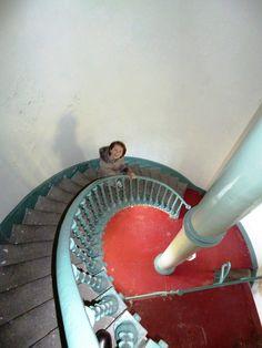 Helen MacRandel enjoys exploring St John's Lighthouse in Killough, County Down