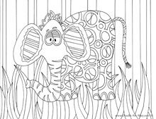 Great coloring pages for kids of all ages! kid fun, doodles, colors, anim color, doodl pic, coloring sheets, printabl, jungle animals coloring pages, doodle art