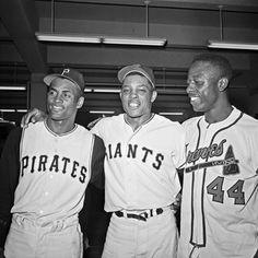 Hank Aaron, Willie Mays & Roberto Clemente