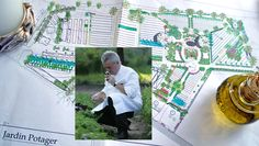 Le plan bien sûr, établi par François Tessari, grand chef jardinier du conservatoire de Salagon (sur la photo : Jany Gleize)
