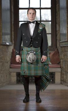 Irish tartan formal dress