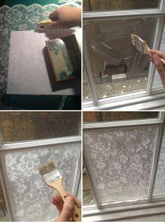 Renda na decora��o: Uma janela toda linda