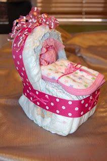 Diaper bassinet (like a diaper cake)