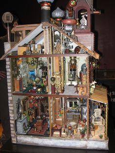 steampunk dollhouse interior
