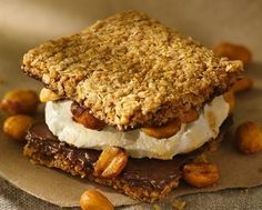 The rocky road combo (chocolate, peanuts and marshmallow) is a natural in an ooey, gooey, super-simple s'more.