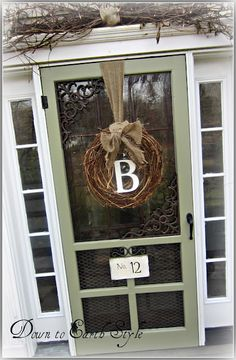 Clever screen door redo....cut out the stock screening, add chicken wire and glass.....Nice!!