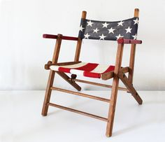 Folk American Flag Chair