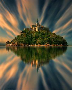 Mont Saint Michel - Gothic Benedictine Abbey, France