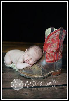 Newborn cowboy :)