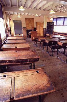 countri school, school desk, autrefoi
