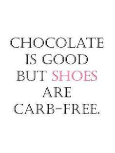 El chocolate es bueno, pero los zapatos no tienen carbohidratos