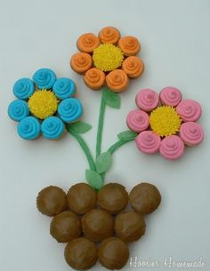 Flower Pot Cupcakes for Mother's Day