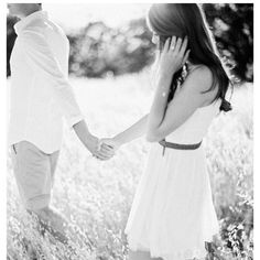 Engagement photo-I love how he is leading her.. bigger meaning for me so I love it even more :)