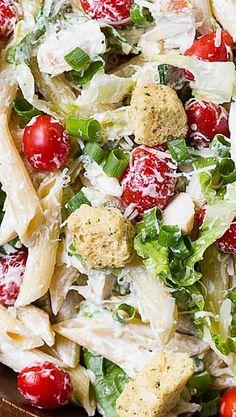 Caesar Pasta Salad pasta salad, caesar pasta