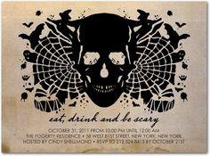 Halloween Party Invitations  Intimidating Inkblot :
