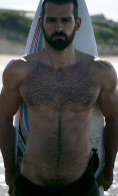 Grumpy Bear, you're so sexy. Why you look so grumpy? (hot guy, sexy men, hairy men, bears men, beards, hairy chest).