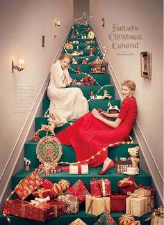 Afternoon Teaのクリスマスのビジュアルをつくりました。- Yuni Yoshida