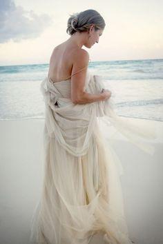 vera wang dress ~ beach wedding